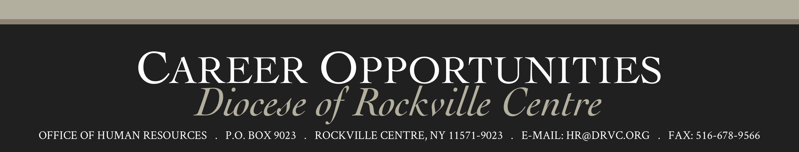 Career Opportunities | The Diocese of Rockville Centre
